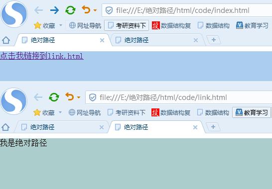 html文件路径和目录语法知识
