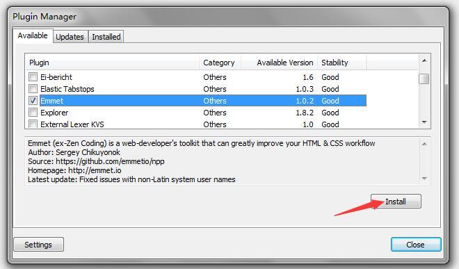 Notepad++编辑器如何安Emmet和Python Script插件