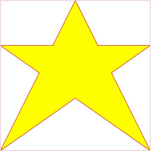 canvas绘制五角星