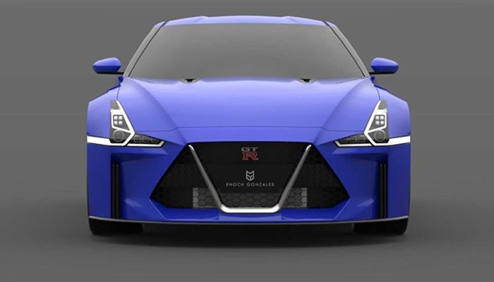 下一代日产GT-R渲染图曝光 或将搭载混合动力系统