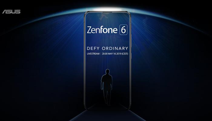 华硕官方预告ZenFone 6的无刘海窄边框设计