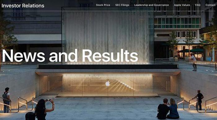 苹果改版投资者关系页面 整合新闻信息流