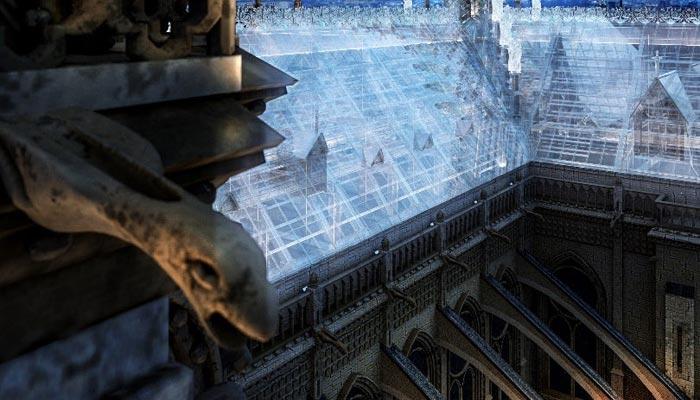 苹果商店设计师设想使用玻璃重建巴黎圣母院