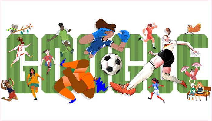 Google涂鸦助力2019年女足世界杯