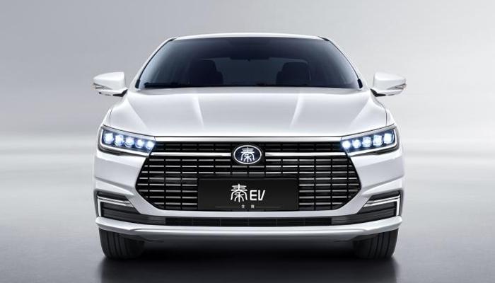 续航比肩Model 3 比亚迪发布全新秦EV官图