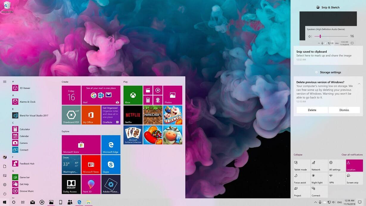 便捷通知管理:微软测试Windows 10 20H1行动中心的新功能