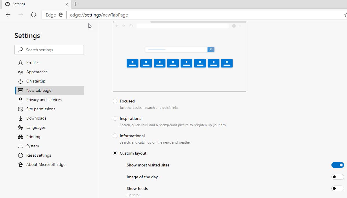 [图]新版Edge Canary为新标签页带来了更丰富的自定义设置