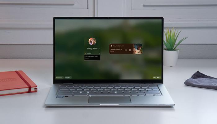Chromebook锁屏界面迎来媒体控制小部件
