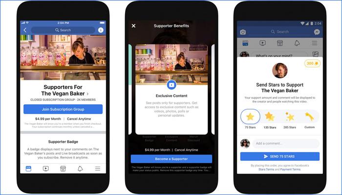 Facebook将为创作者提供更多赚钱的途径