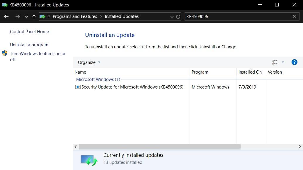 微软为Windows 10版本1903推出了新的服务堆栈