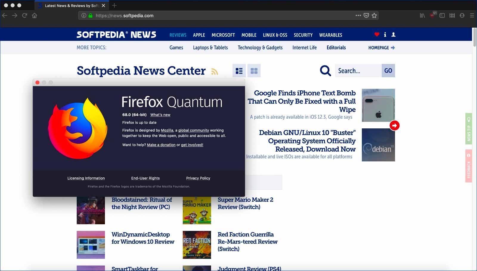 Mozilla Firefox 68正式版发布 提升报告问题的能力