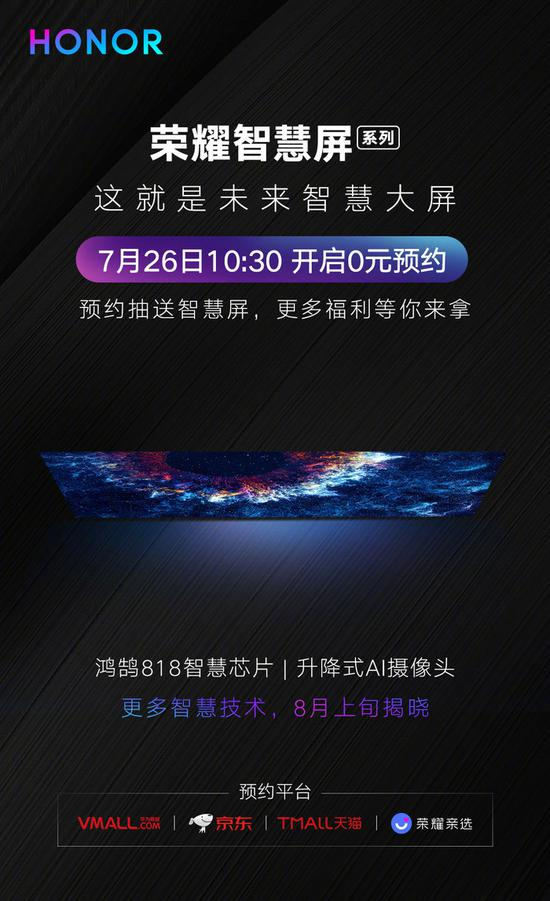 On August 10, Hongmeng System launched with Glory Wisdom Screen 5