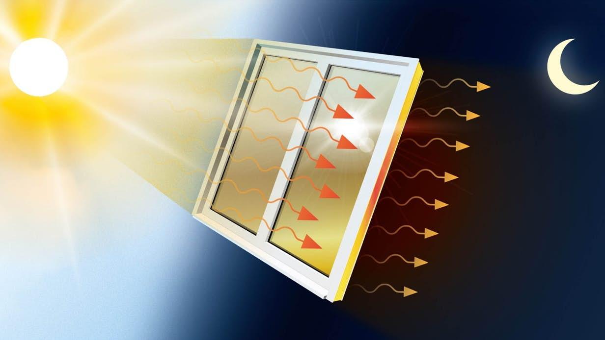 科学家研发出能够捕捉和释放太阳能的冷却/加热玻璃薄膜