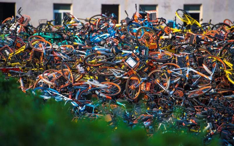 京津冀报废共享单车去向:99%回收再利用
