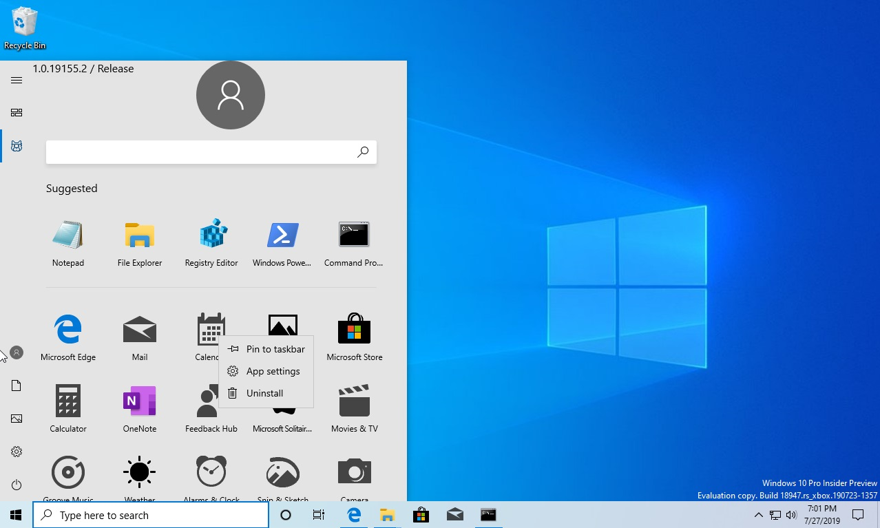 [图]Windows 10内测版开始菜单上手:取消动态磁贴 支持Dark模式