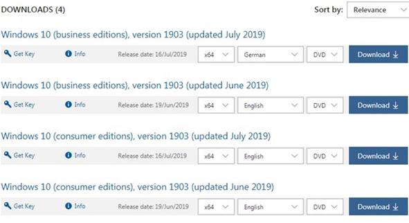 Windows 10 v1903正式版ISO镜像更新 版本号升级为18362.239