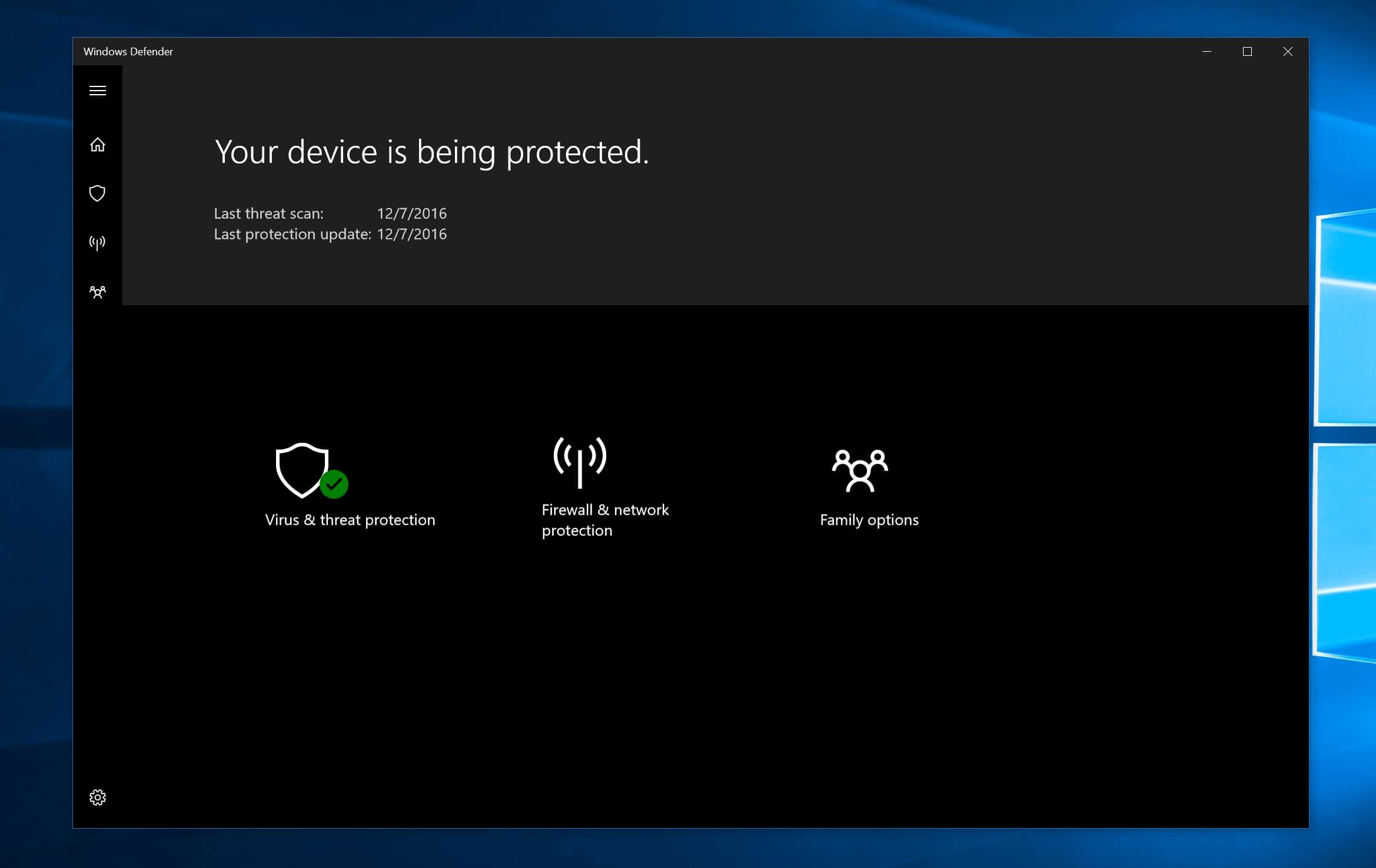 Windows Defender在Windows 10上可能会被改名