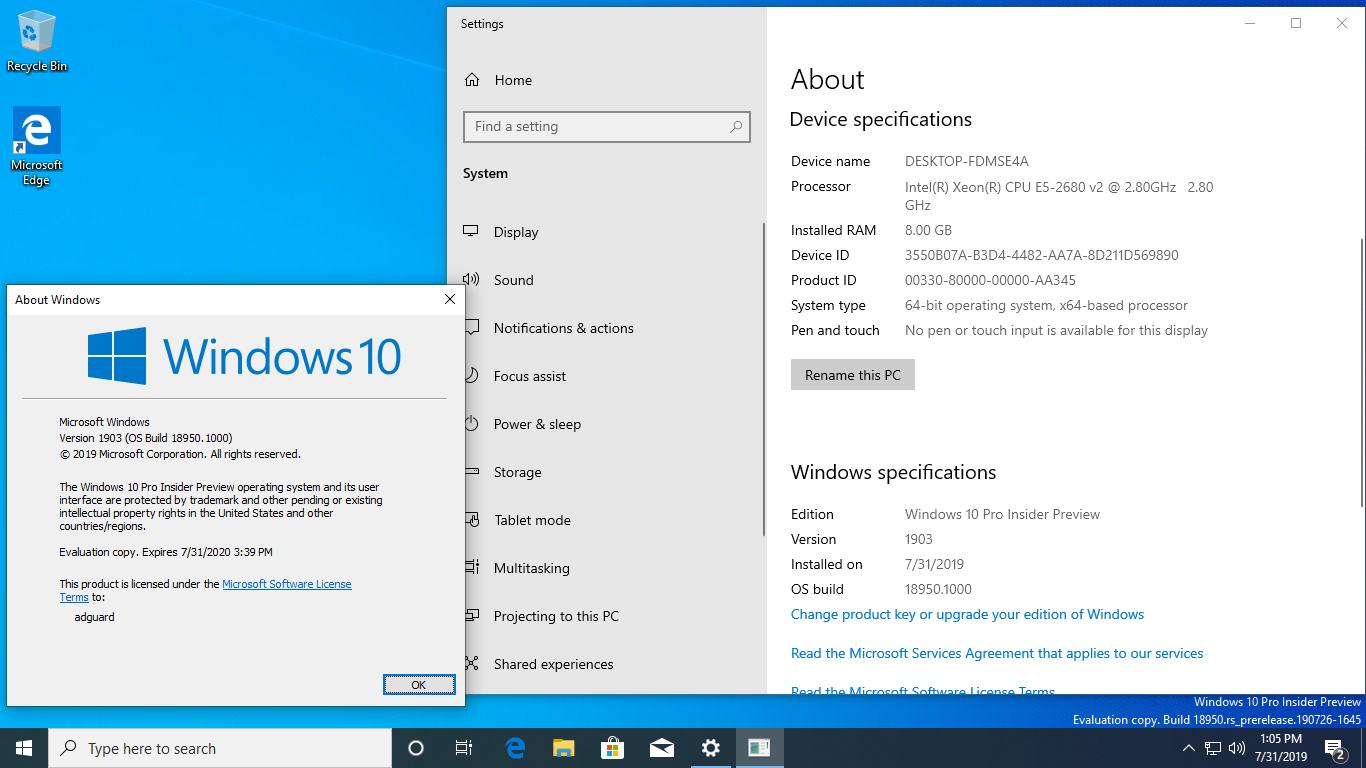 Windows 10 Build 18950 image 6