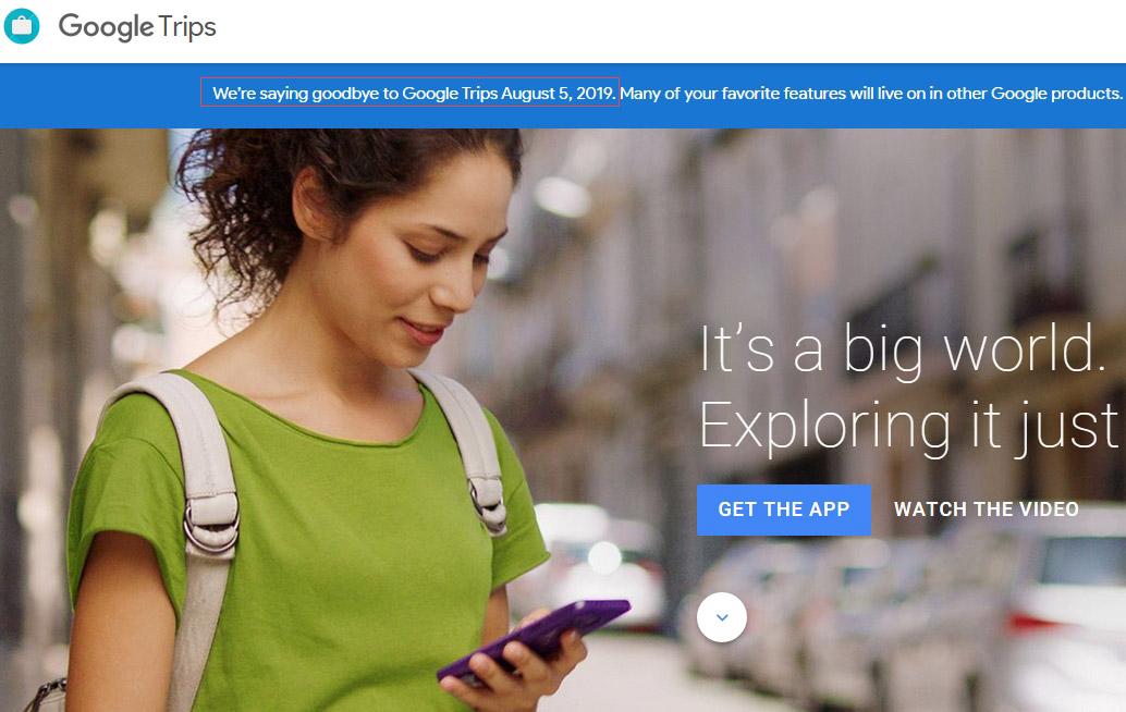 谷歌将关闭旅游应用Trips功能整合进地图及搜索