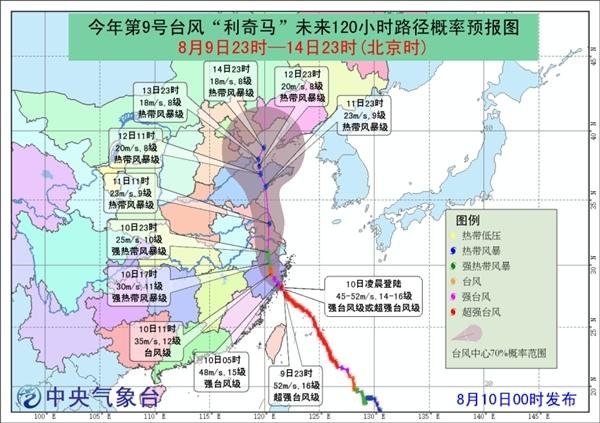 """风王""""利奇马""""登陆浙江温岭 台风雨将袭江苏山东等8省市"""