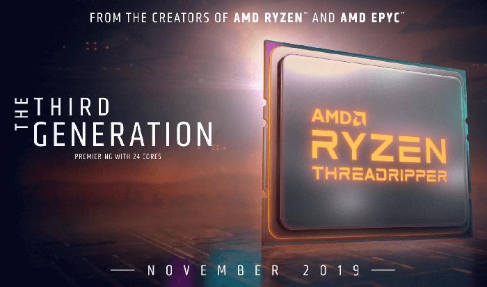 AMD宣布三代线程撕裂者和锐龙9 3950X处理器将于11月上市
