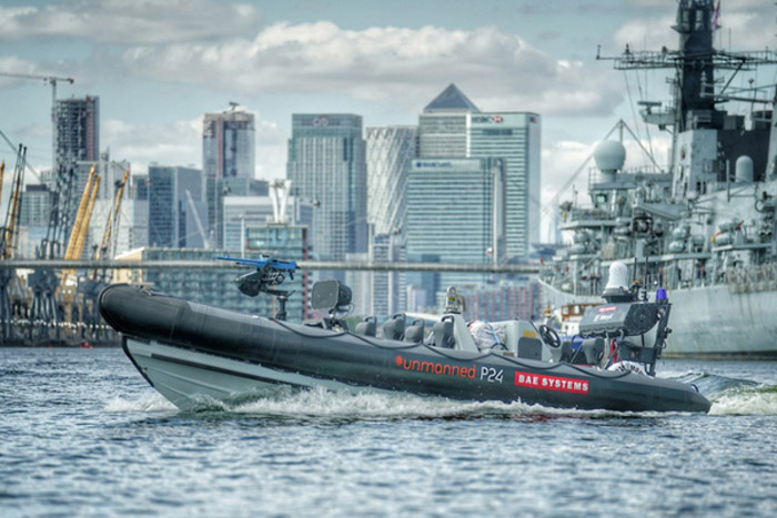 BAE将展示一种可以与皇家海军军舰整合的无人水面舰艇