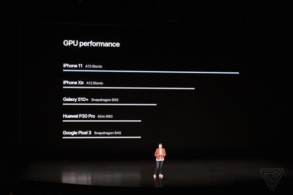 iPhone 11发布会苹果首次对比华为 网友力挺:华为加油