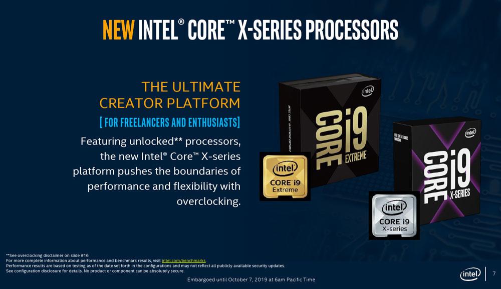 Intel正式发布新一代发烧酷睿X:AI性能提速2.2倍