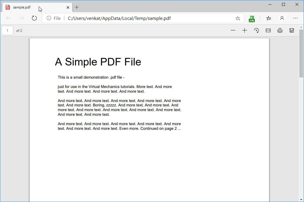 Chromium Edge成为Windows 10中新的默认PDF阅读器