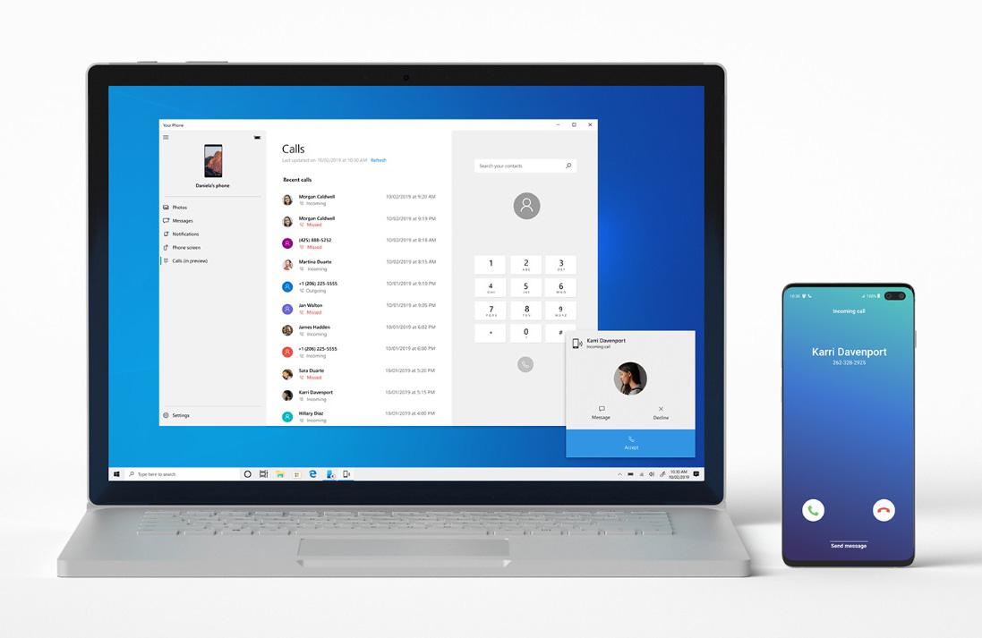 [图]Your Phone即将允许用户在PC端拨打/接听Android手机电话