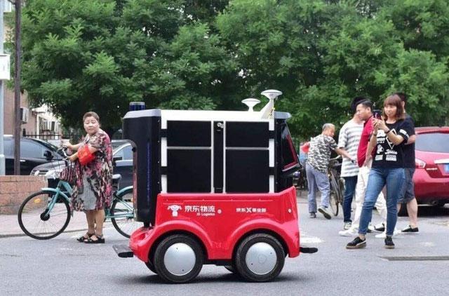 日本首次使用无人车送外卖 技术来自京东