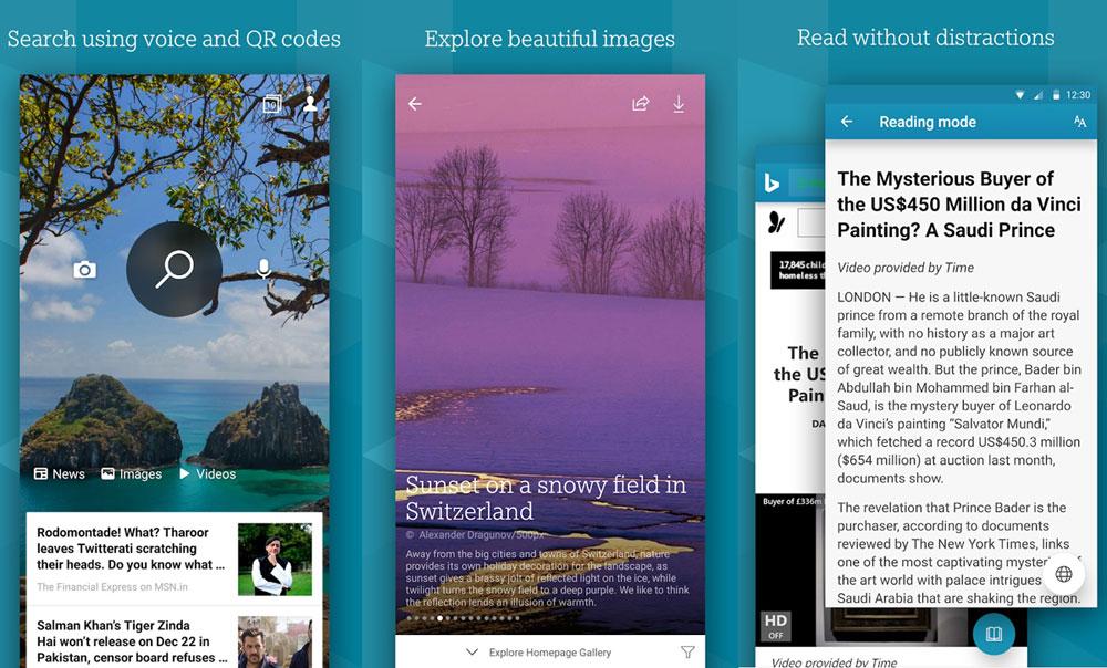 必应App功能更新:改进Android 10的黑暗模式支持