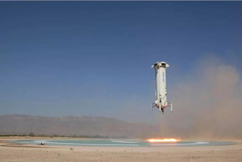 蓝色起源正在测试商业太空飞行 计划明年将乘客带到太空边界