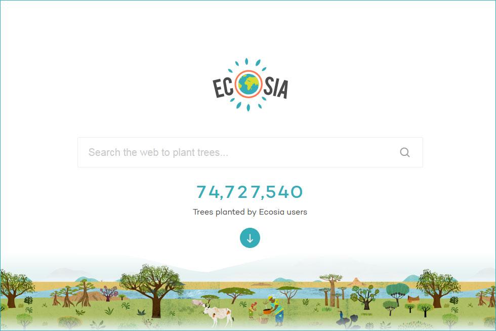 全球最环保的搜索引擎:每搜索45次就种一棵树