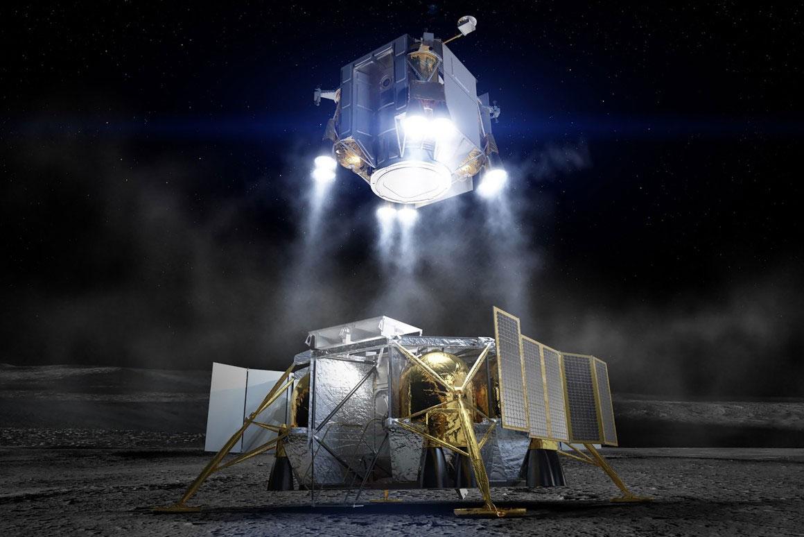 """波音公司宣布""""最少步骤""""的登月着陆器计划"""