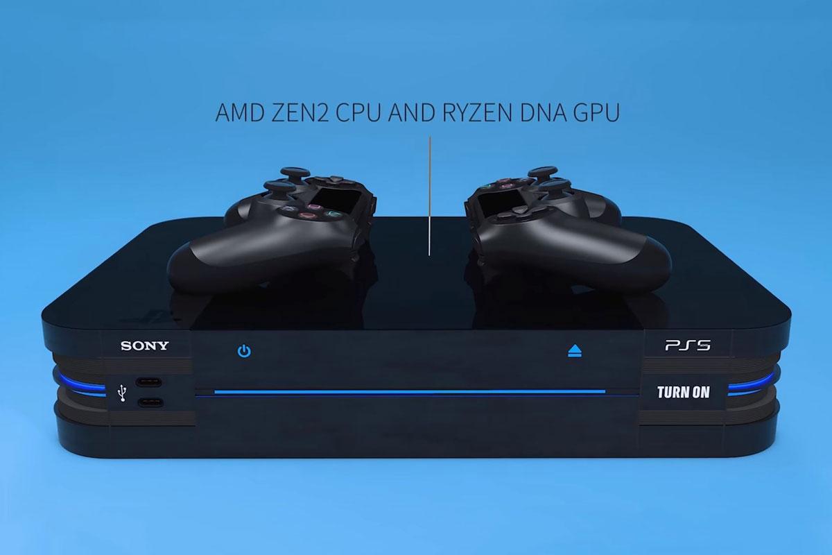 零售商发布PS5主机与DS5手柄概念设计 OLED屏激进