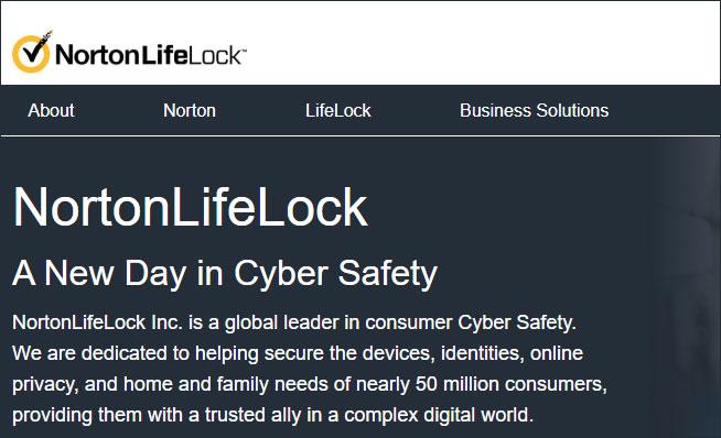 [图]被博通收购之后 现赛门铁克更名为NortonLifeLock