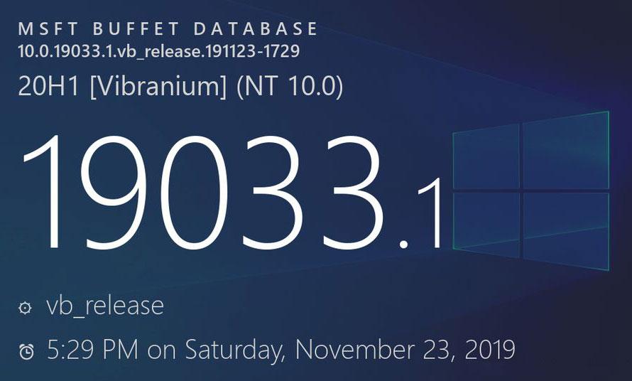 """[图]Windows 10 Build 19033发布:名称敲定""""Version 2004"""""""