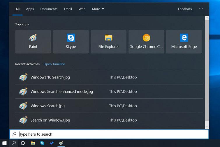 Windows 10 20H1更新将让系统搜索功能变得更加高效