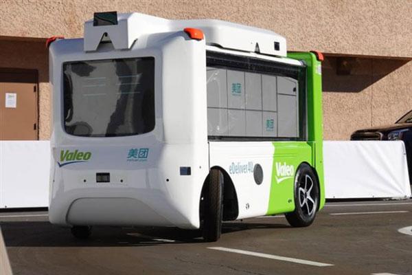 美团和法雷奥联手打造无人配送车:最高时速50km/h 最多可配送17份外卖