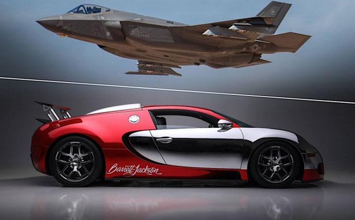 布加迪威龙与F35战斗机比加速:大战一触即发