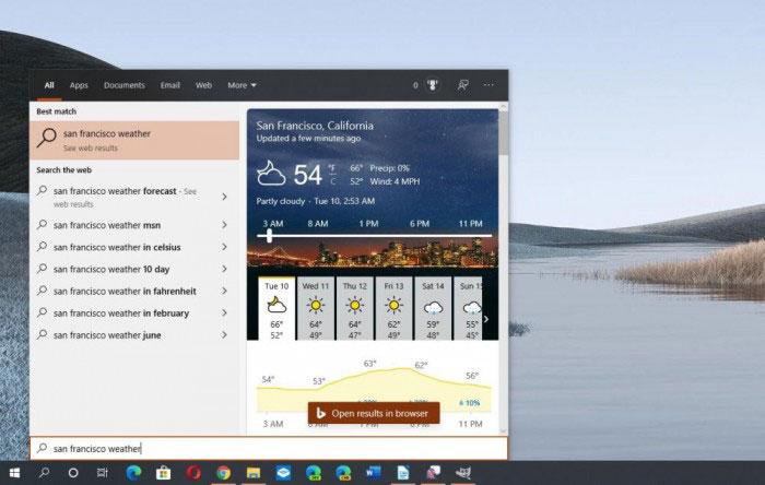 [图]Windows 10 Version 2004优化搜索特性:可预览网页结果