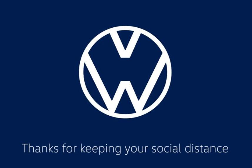 大众、奥迪修改车标 用以提醒人们注意社会隔离