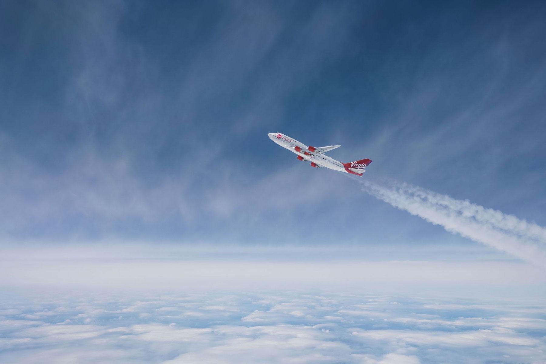 维珍轨道预演:波音747把火箭带到万米高空发射