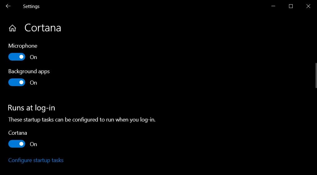 Cortana-run-at-login