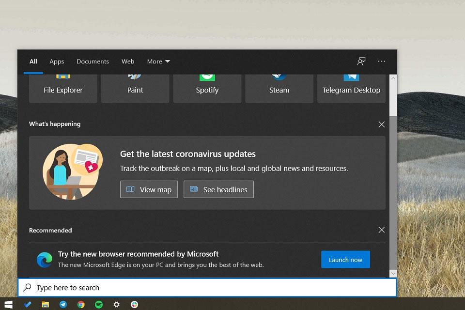 Windows 10 搜索出现建议用户启用Edge游览器