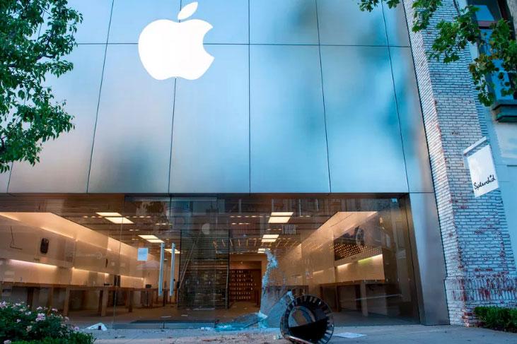 苹果、亚马逊等公司因暴乱示威游行活动调整业务运营