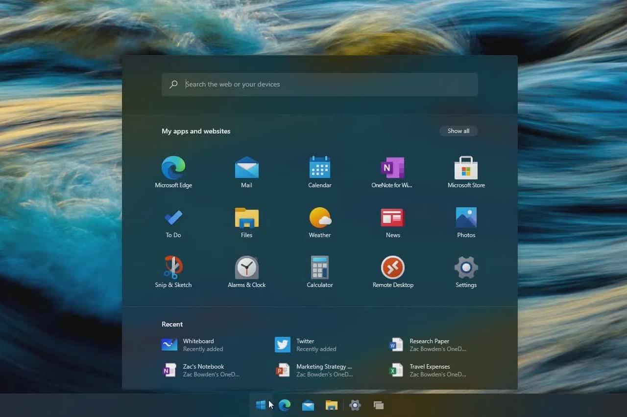 windows10更新将增加浮动的开始菜单和圆角