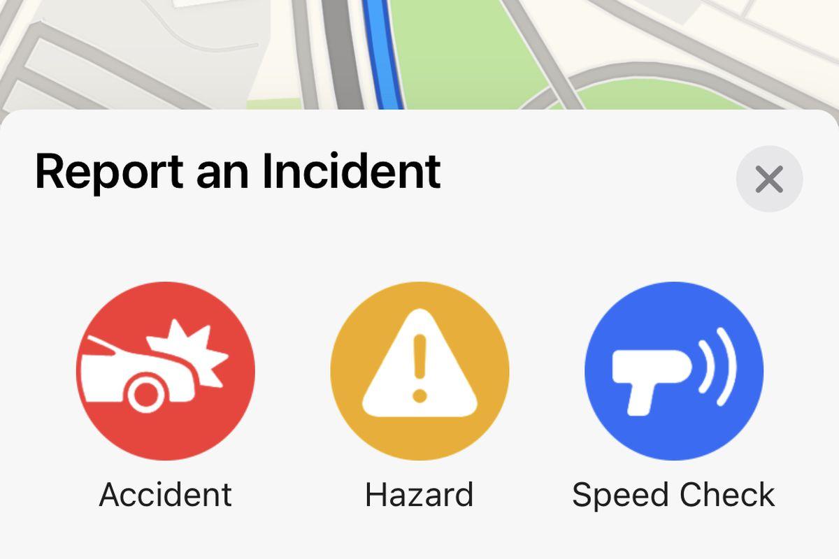 苹果地图增加了类似于位智和谷歌地图中的用户报告功能
